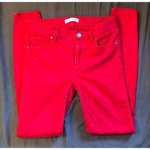 Ann Taylor LOFT Bright Red Legging Pants